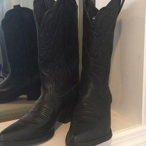 Ariat Black Leather Western Boots